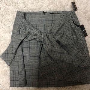 Striped tie skirt